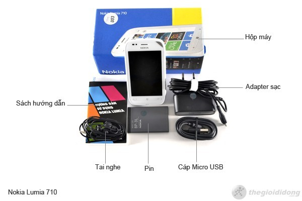 Bộ bán hàng chuẩn của Nokia Lumia 710