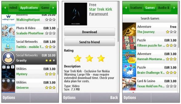 Với Ovi Store, mọi ứng dụng và game đều được download và cài đặt dễ dàng trên Nokia X2-02