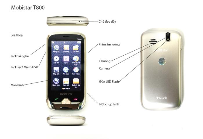 Mô tả tính năng của Mobistar T800