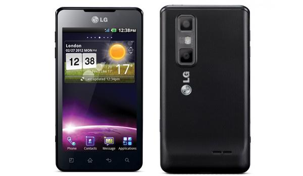thân máy LG Optimus 3D Max mỏng hơn và nhẹ hơn