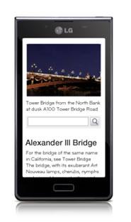 LG Optimus L7 - Lướt web với hệ điều hành Android