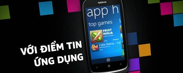Lumia 610 - ứng dụng