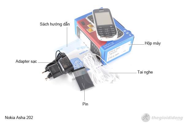 Bộ bán hàng chuẩn của Nokia Asha 202