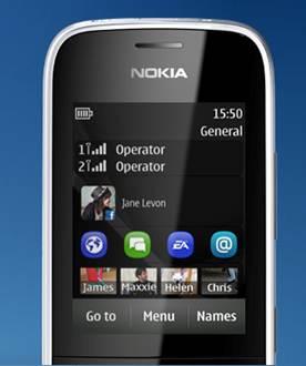 Màn hình chủ Nokia asha 202