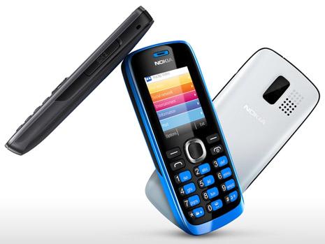 Nokia 112 với 3 màu trắng, xanh và xám
