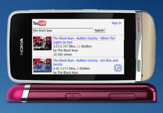 Màn hình của Nokia Asha 311 có thể xoay bất kỳ hướng nào