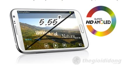 Galaxy Note II màn hình Super AMOLED HD