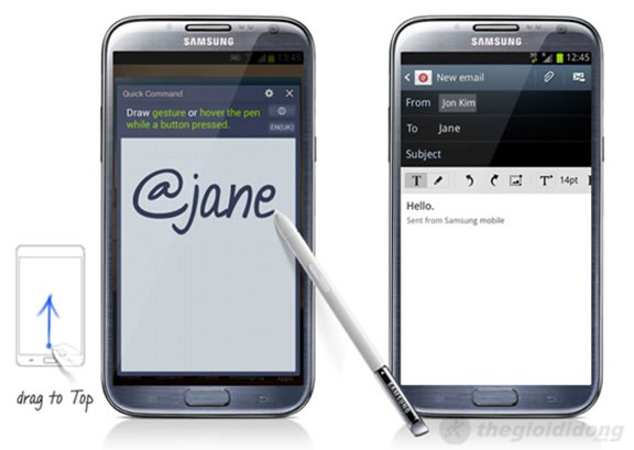 Note II với Quick command