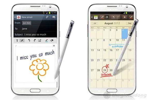 Galaxy note 2 tính năng viết tay