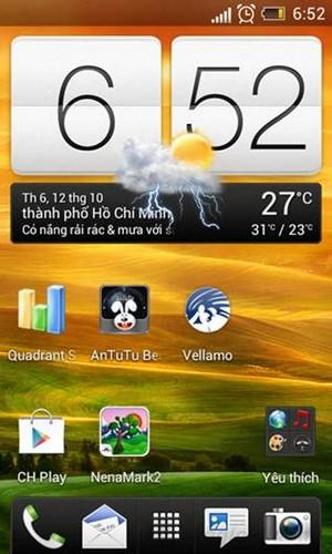 Giao diện màn hình chính của HTC Sense 4.1