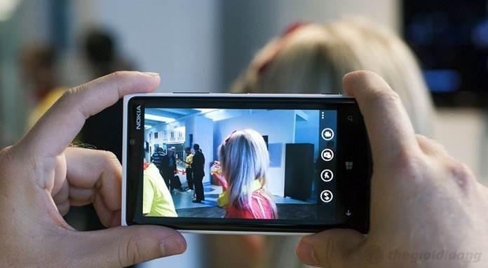 Giao diện chụp ảnh của Lumia 920