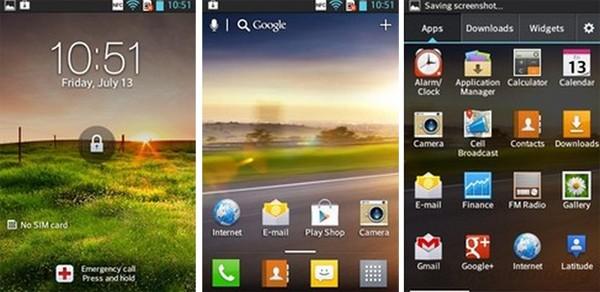 Giao diện Android 4.0 tùy biến của LG Optimus L5 Dual E615