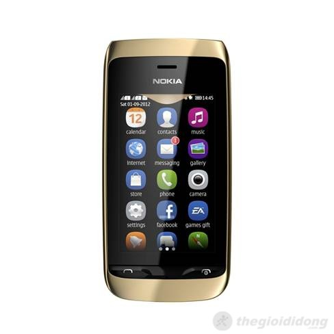 Nokia Asha 308 có màn hình sắc nét, hỗ trợ cảm ứng điện dung đa điểm