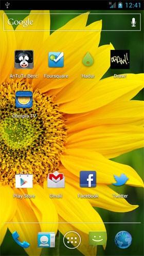 Giao diện hệ điều hành Android 4.0 của ZTE-U V970M