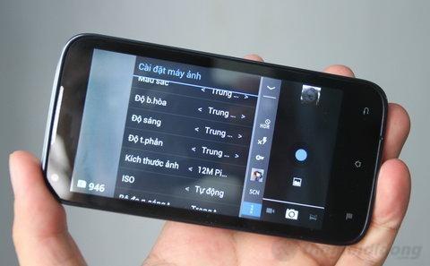 Camera được tích hợp nhiều tùy chọn, chế độ chụp