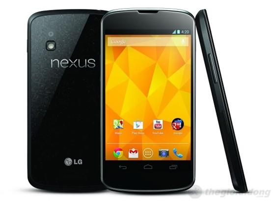 Thiết kế đơn giản, sang trọng với đường viền màn hình đen bóng bẩy của Nexus 4