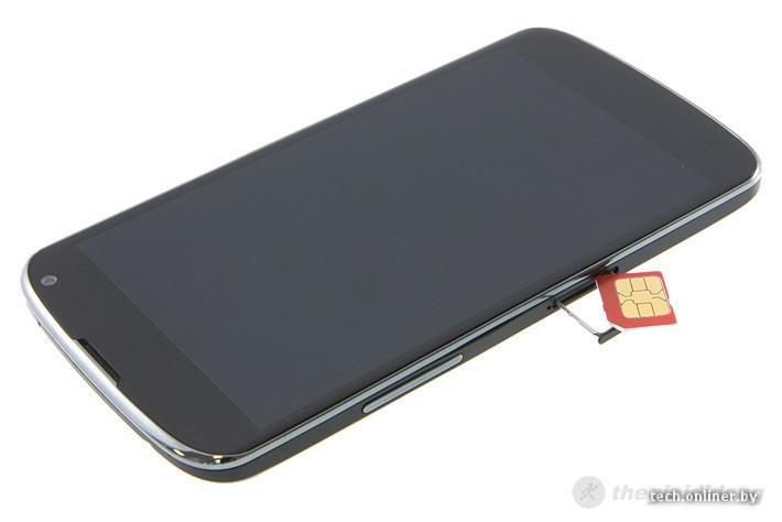 LG Nexus 4 với thiết kế nguyên khối và vòng benzel & khe nhét microsim
