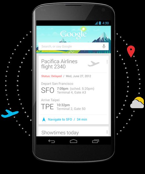 Ứng dụng Google Now – Thông tin tiện ích cho bạn trên từng chuyến hành trình
