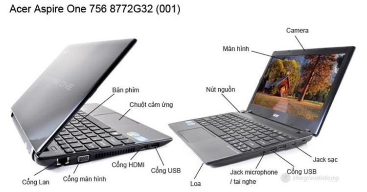 Mô tả chức năng Acer Aspire 4752