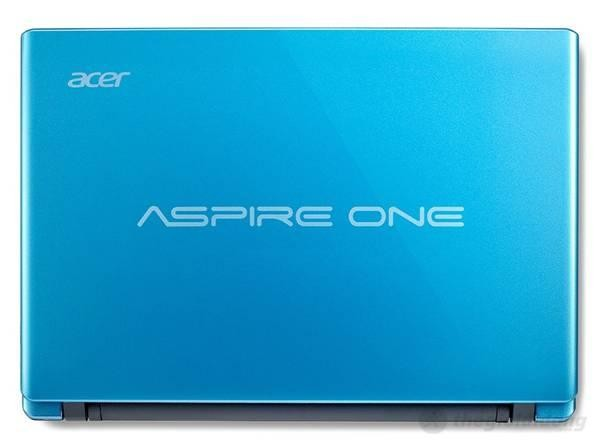 Mặt sau của Acer Aspire One 756