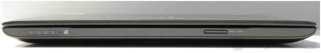 Mặt phía trước Dell Vostro 3460 gồm các đèn chỉ thị và khe cắm thẻ nhớ