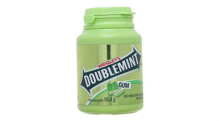 Kẹo cao su DoubleMint hương bạc hà hũ 58.4g