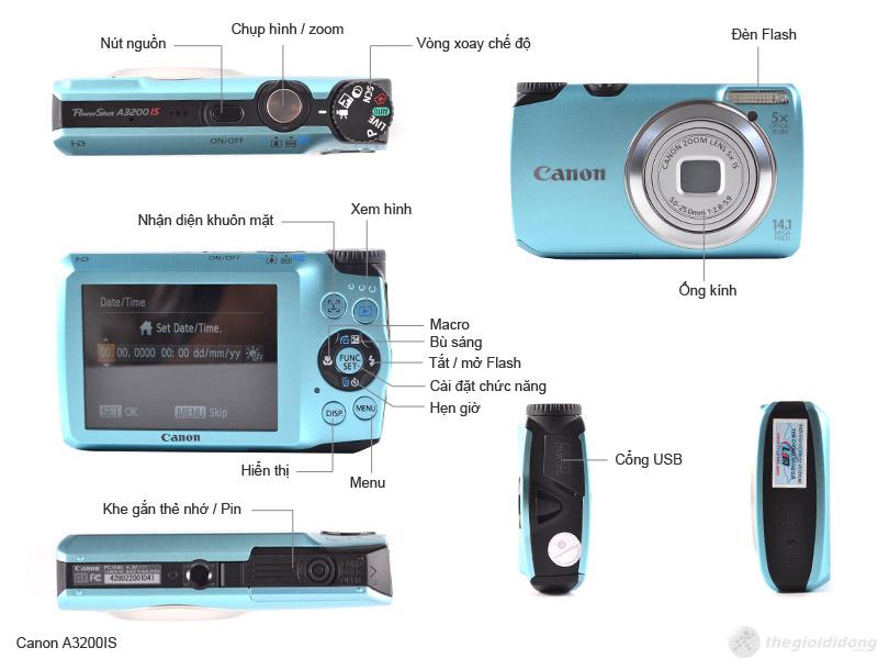 Mô tả chức năng Canon PowerShot A3200 IS