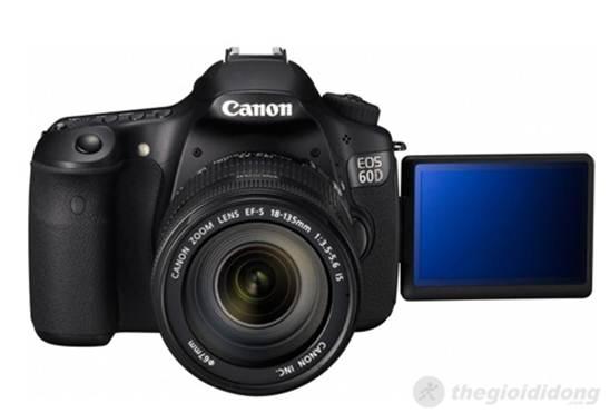 Canon EOS 60D với màn hình lật xoay đa góc