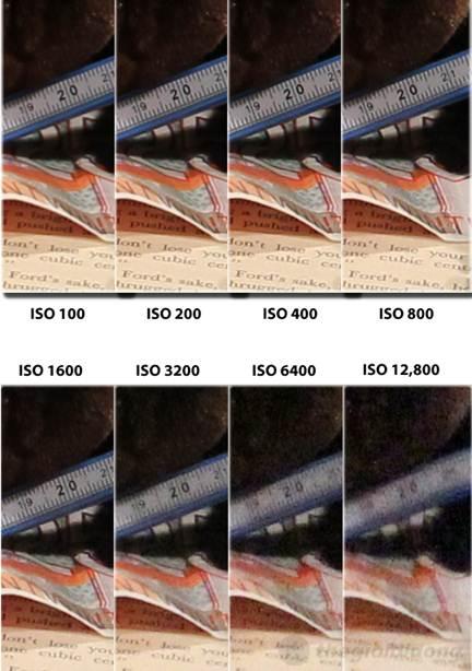 Khả năng khử nhiễu (noise) của Canon EOS 60D khi so sánh ở các chế độ ISO khác nhau