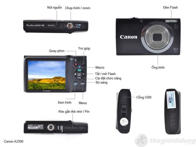 Mô tả chức năng Canon PowerShot A2300