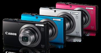 Nhiều màu sắc khác nhau của PowerShot A2300
