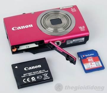 Canon PowerShot A2300 - Sử dụng pin Lithium-ion NB-11L có kích thước nhỏ rất tiện dụng.