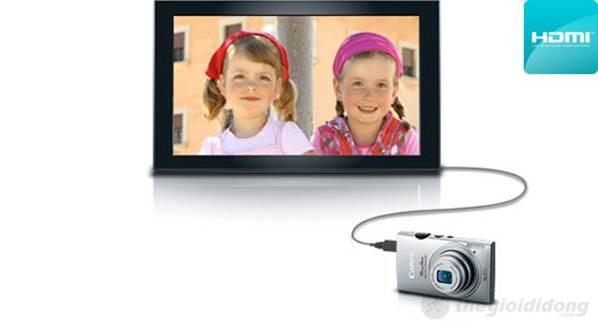 Được trang bị cổng HDMI nên Canon IXUS 125  có khả năng trình chiếu dữ liệu lên Tivi HD