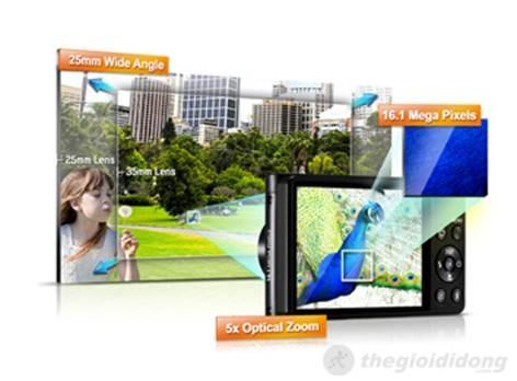 DV300F với 2 màn hình, độ  phân giải lên đến 16 MP cho chất lượng hình ảnh sắc nét ngay cả trong điều kiện  ánh sáng yếu