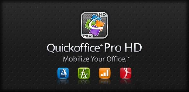 Ứng dụng văn phòng QuickOffice HD - đa tiện ích trên Galaxy tab 2 10.1