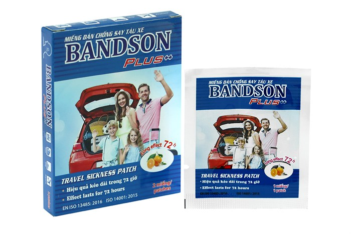 Miếng dán chống say tàu xe Bandson Plus 2 miếng