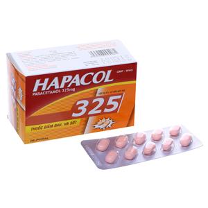 Thuốc giảm đau, hạ sốt Hapacol 325mg