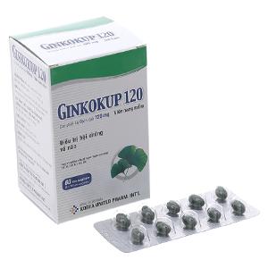 Thuốc điều trị suy giảm trí nhớ Ginkokup 120