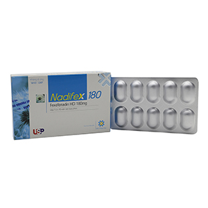 Thuốc chống dị ứng Nadifex 180 10 viên