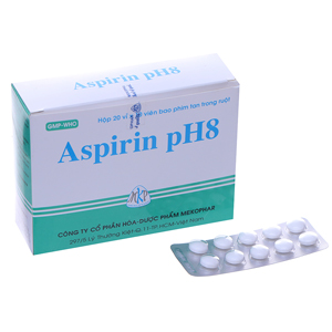 Thuốc giảm đau, kháng viêm Aspirin pH8 500mg