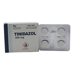 Thuốc trị nấm Tinidazol Domesco 500mg hộp 4 viên