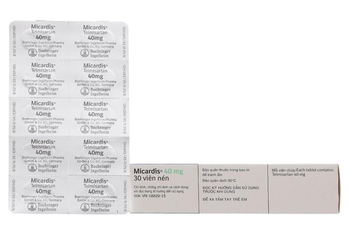 Thuốc Micardis 40mg hộp 30 viên