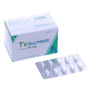 Thuốc trị tâm thần phân liệt TV. Sulpiride 50mg hộp 100 viên