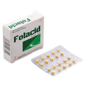 Thuốc Folacid 5mg hộp 80 viên