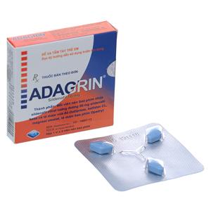 Thuốc trị rối loạn cương dương Adagrin 50mg hộp 3 viên
