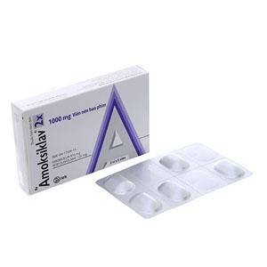 Thuốc kháng sinh Amoksiklav 2x 1000mg hộp 10 viên
