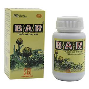 Thuốc lợi gan mật Bar hộp...