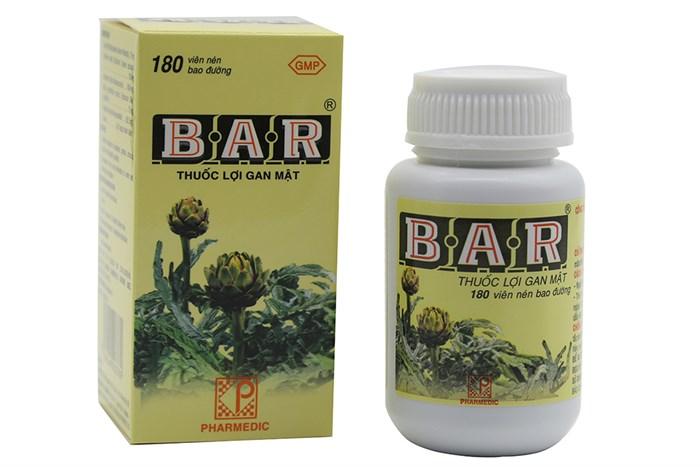 Thuốc lợi gan mật Bar 180 viên