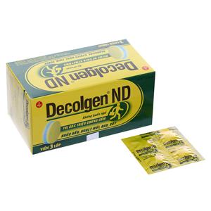 Thuốc Decolgen ND Không gây buồn ngủ vỉ 4 viên