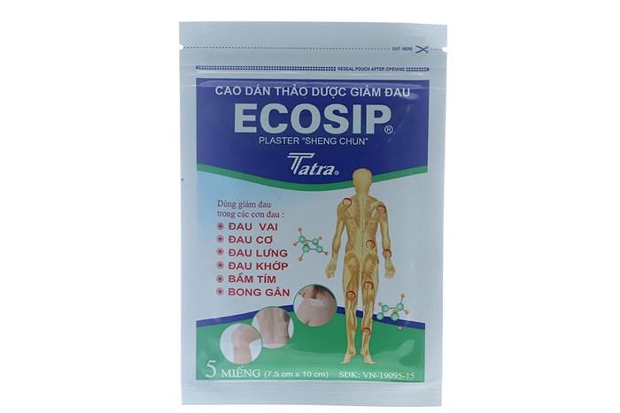 Cao dán thảo dược giảm đau Ecosip 5 miếng